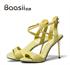 baasii佰缌2015夏新款欧美高跟凉鞋女 性感真皮细跟露趾扣带女鞋