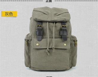 男士双肩包帆布真皮背包日韩休闲时尚旅行背包男包运动户外双肩包